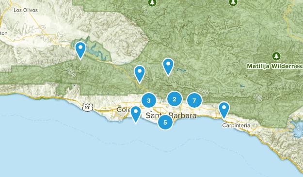 Santa Barbara, California Kid Friendly Map