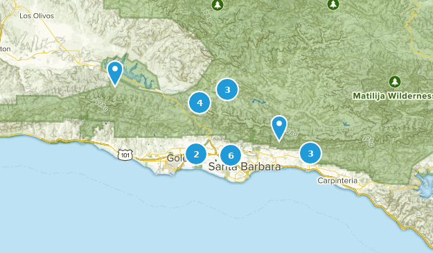 Santa Barbara, California Mountain Biking Map