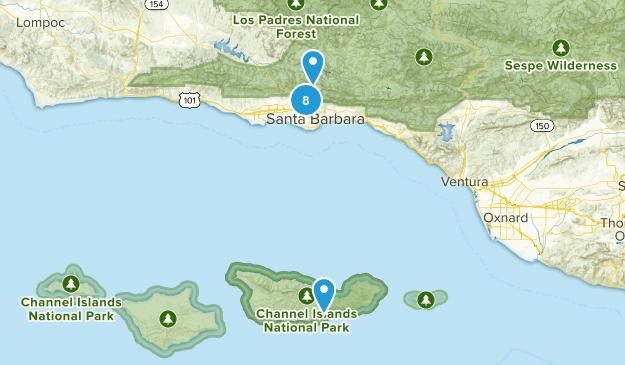 Santa Barbara, California River Map