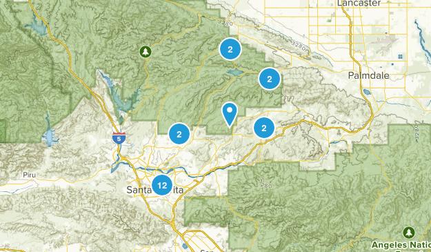 Santa Clarita, California Hiking Map