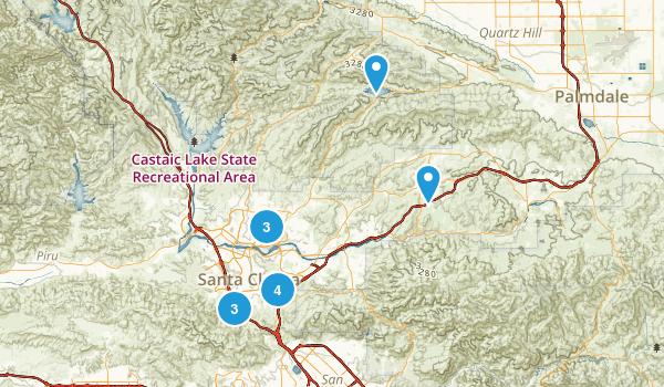 Santa Clarita, California Trail Running Map