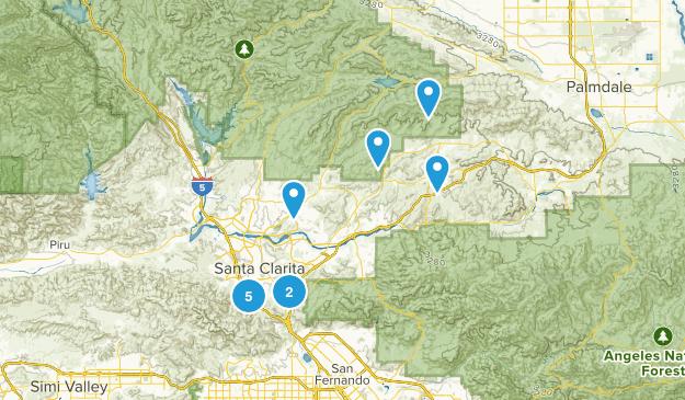 Santa Clarita, California Wild Flowers Map