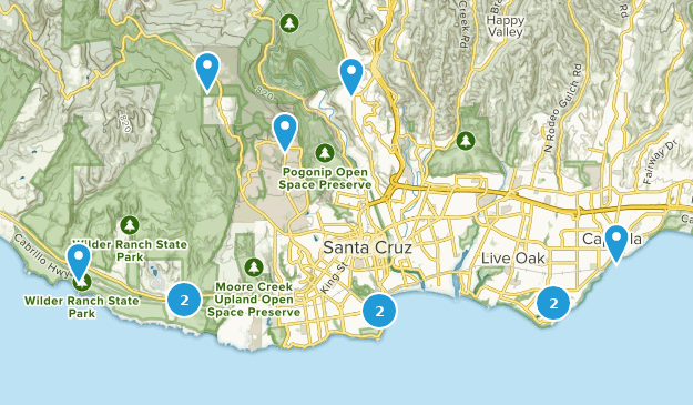 Santa Cruz California Map.Best Beach Trails Near Santa Cruz California Alltrails