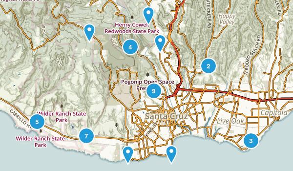 Santa Cruz, California Birding Map