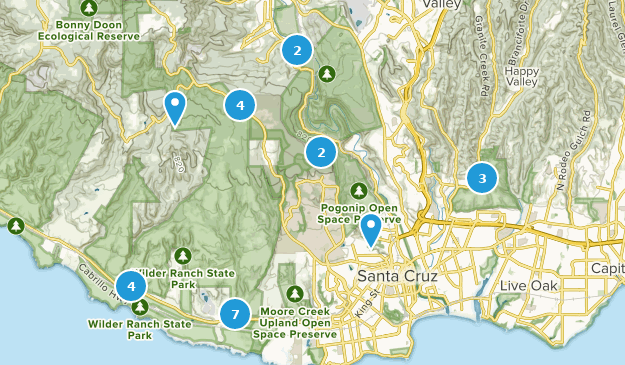 Santa Cruz California Map.Best Mountain Biking Trails Near Santa Cruz California Alltrails