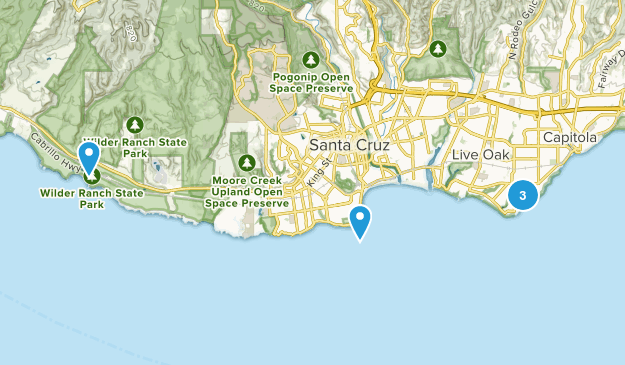 Best Surfing Trails near Santa Cruz, California | AllTrails on golden gate bridge on us map, cupertino on us map, irvine on us map, sonoma on us map, san gabriel on us map, reno on us map, saint augustine on us map, orange county on us map, little rock on us map, mount shasta on us map, san clemente on us map, torrance on us map, arcadia on us map, burbank on us map, stockton on us map, oakland on us map, madison on us map, alamo on us map, columbia on us map, mt. lassen on us map,