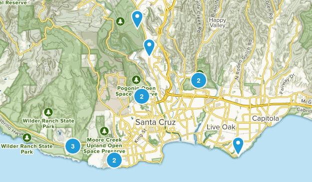 Santa Cruz, California Wildlife Map