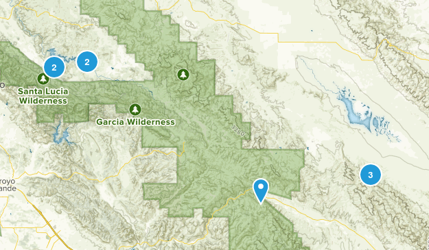 Santa Margarita, California Hiking Map