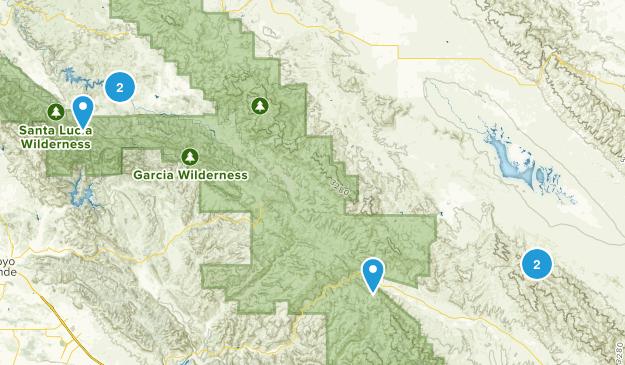 Santa Margarita, California Trail Running Map