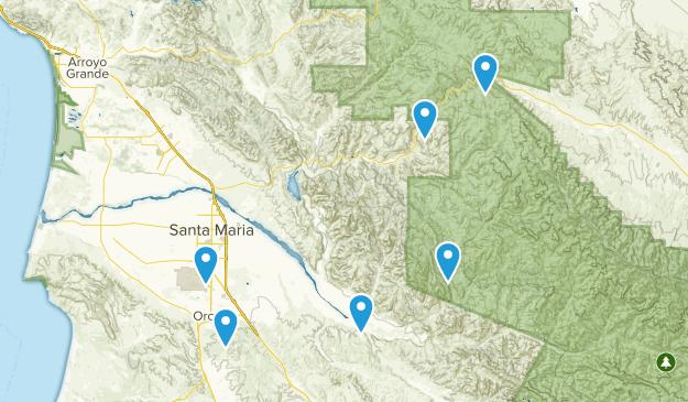 Santa Maria, California Dogs On Leash Map