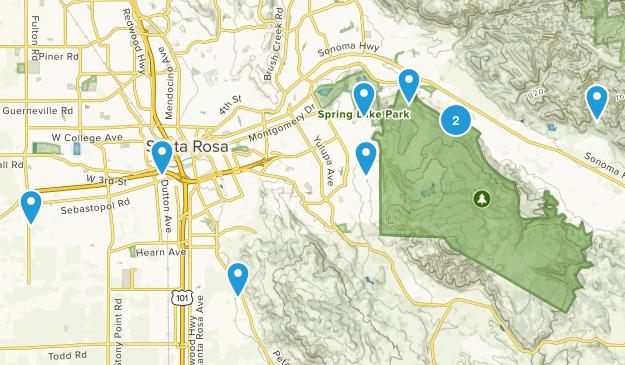 Santa Rosa, California Horseback Riding Map