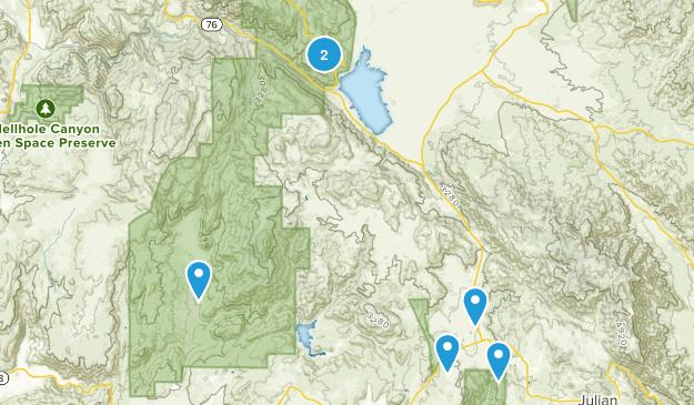 Santa Ysabel, California Dogs On Leash Map