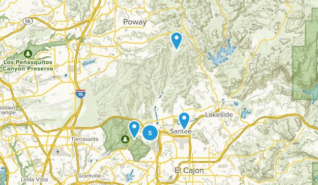 Santee, California Birding Map
