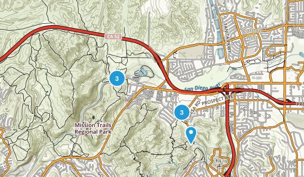 Santee, California Dogs On Leash Map