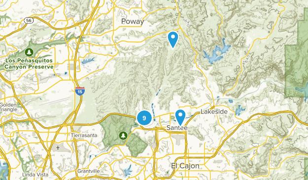 Santee, California Nature Trips Map