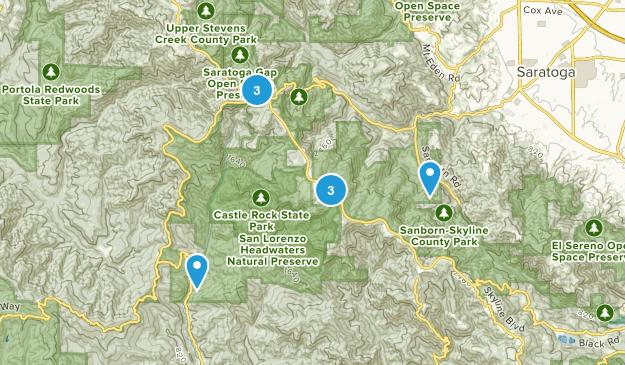 Saratoga, California No Dogs Map