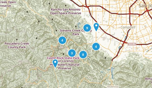 Saratoga, California Hiking Map