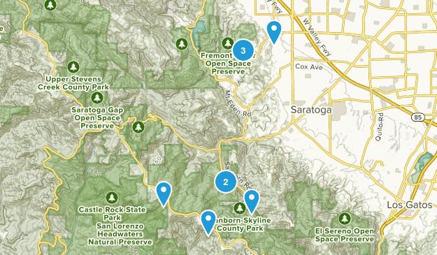 Saratoga, California Mountain Biking Map