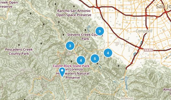 Saratoga, California Walking Map