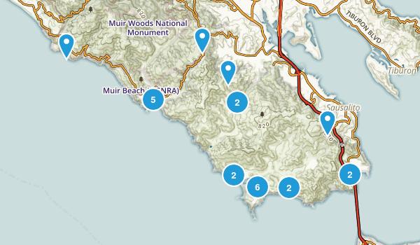 Best Beach Trails Near Sausalito California AllTrailscom - Beaches in the us map