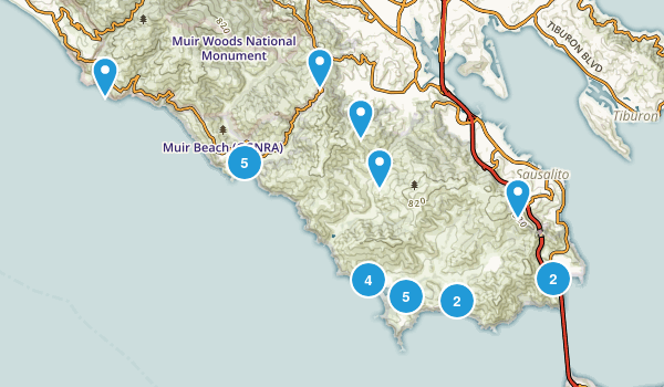 Sausalito, California Beach Map