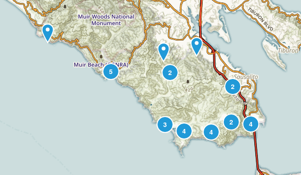 Sausalito, California Birding Map