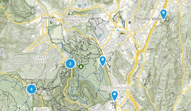 Scotts Valley, California Nature Trips Map