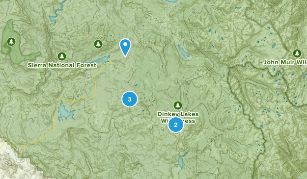 Shaver Lake, California Backpacking Map