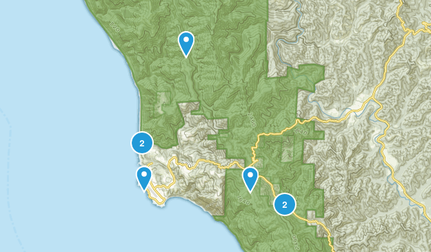 Shelter Cove, California Birding Map
