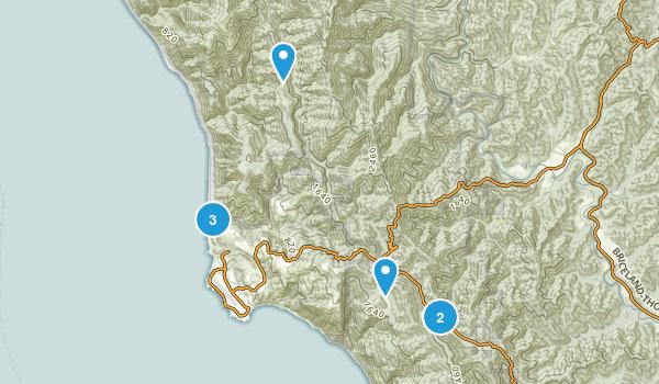 Shelter Cove, California Hiking Map