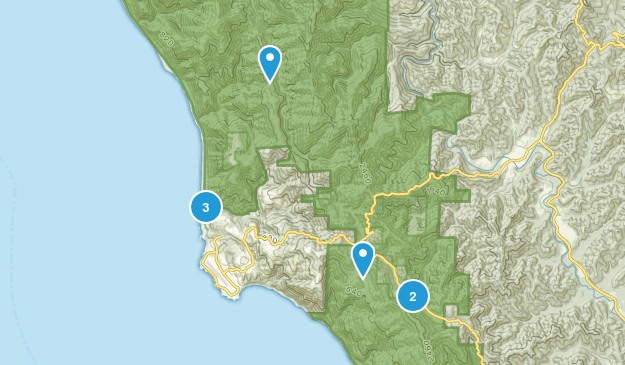 Shelter Cove, California Hiking Map