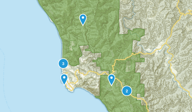 Shelter Cove, California Nature Trips Map