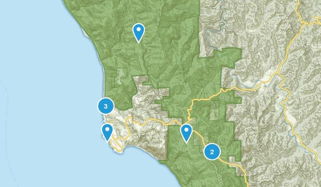 Shelter Cove, California Walking Map