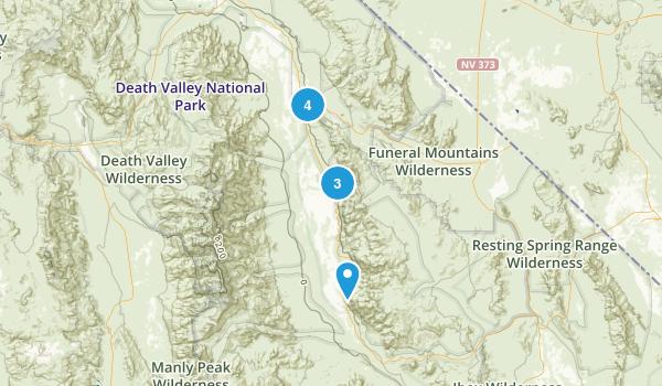 Shoshone, California Hiking Map