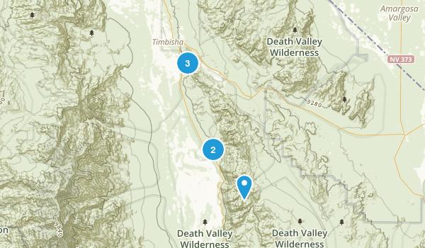 Shoshone, California Walking Map