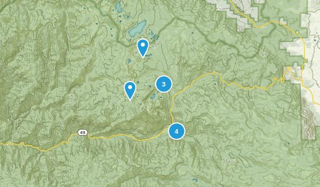 Sierra City, California Hiking Map