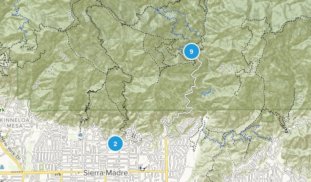 Sierra Madre, California Backpacking Map