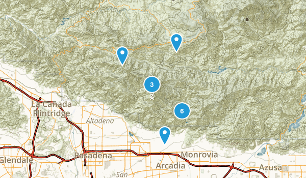 Sierra Madre, California Camping Map