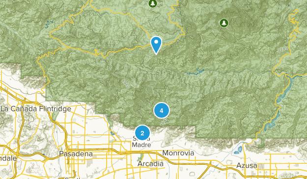 Sierra Madre, California Dog Friendly Map