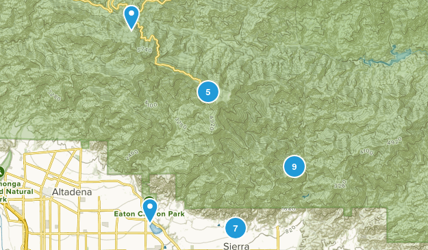 Sierra Madre, California Dogs On Leash Map