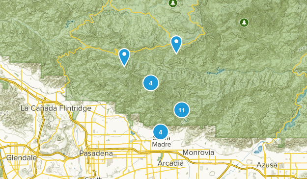 Sierra Madre, California Forest Map