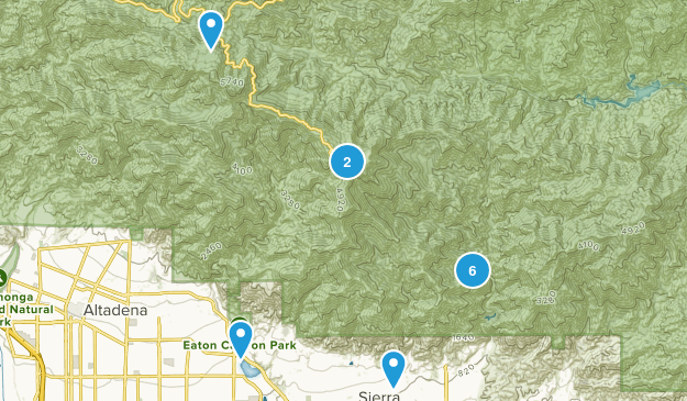 Sierra Madre, California Mountain Biking Map