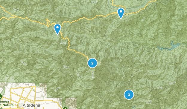Sierra Madre, California River Map