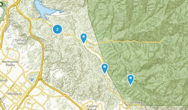 Silverado, California No Dogs Map