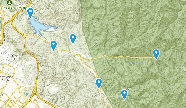 Silverado, California Nature Trips Map