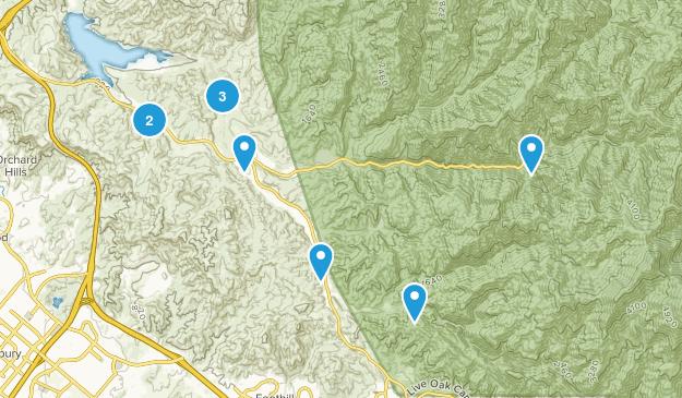 Silverado, California Trail Running Map