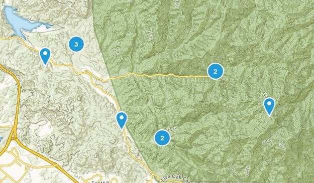Silverado, California Views Map