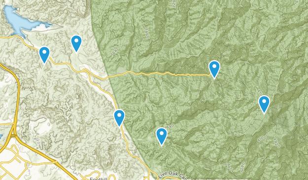 Silverado, California Walking Map