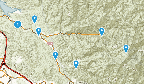 Silverado, California Wildlife Map