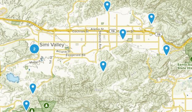 Simi Valley, California Kid Friendly Map